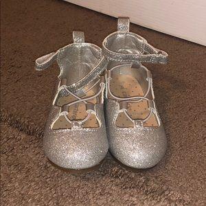 Carter's Silver Glitter dress shoes